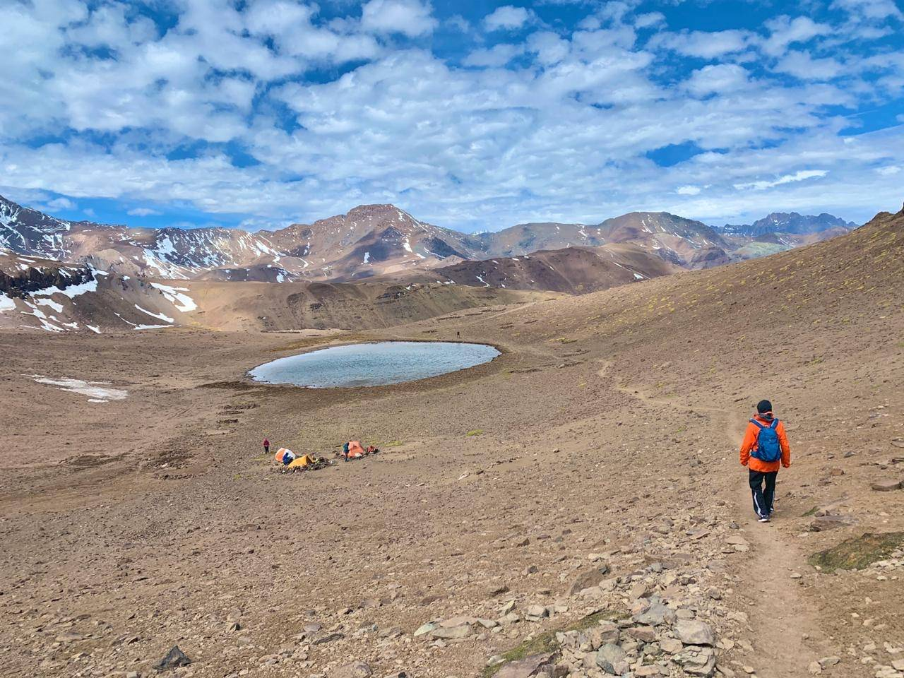 Approaching to the lagoon at 3500 meters /11500 ft