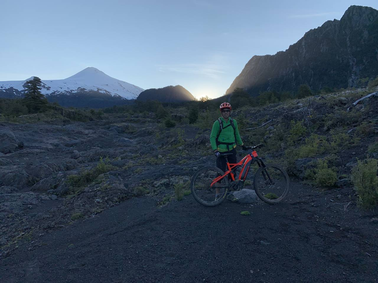 One of the amazing views from the path. Villarrica